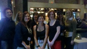 A (mostly) Chicago gals crew: Lea from USA Today, me, Beth Kery, Shannyn Schroeder, Tonya Kuper, Kate Meader, Julie Ann Walker, Monique Headley