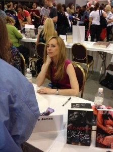 At the Giant Book Fair. I can't decide if I look pensive or sneaky here. (Great to see so many of you there!)