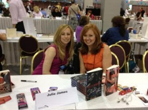 With Kelly Jamieson, signing books at the Giant Book Fair